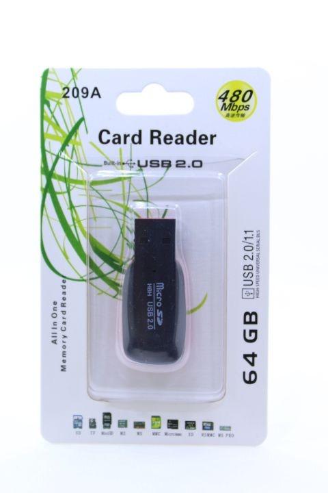 Mini Leitor Adaptador USB Pen Drive para Cartão de Memória