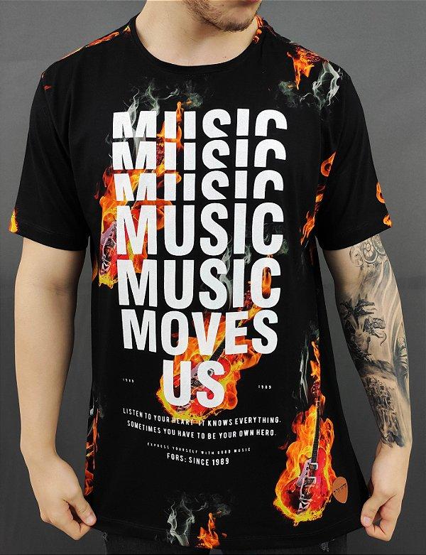 Camiseta Fire Guitar