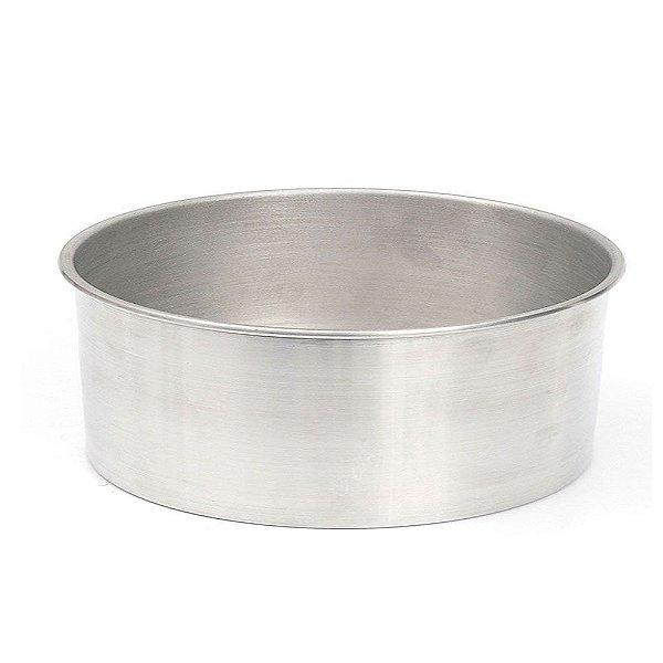 Forma Redonda de Alumínio para Bolo 20x10cm