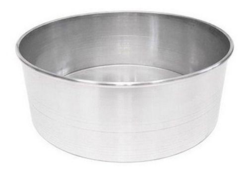 Forma Redonda de Alumínio para Bolo 25x10cm