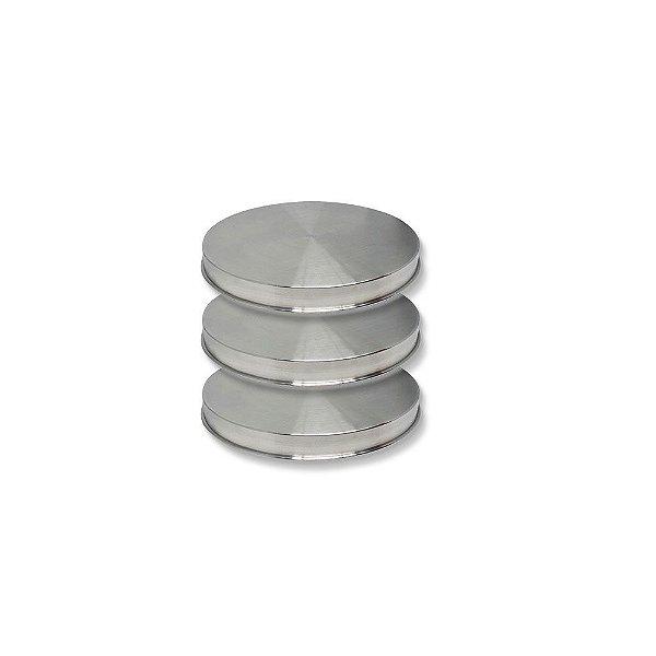 Forma Redonda de Alumínio para Bolo NakedCake 10x3cm - Kit C/ 3 Um.