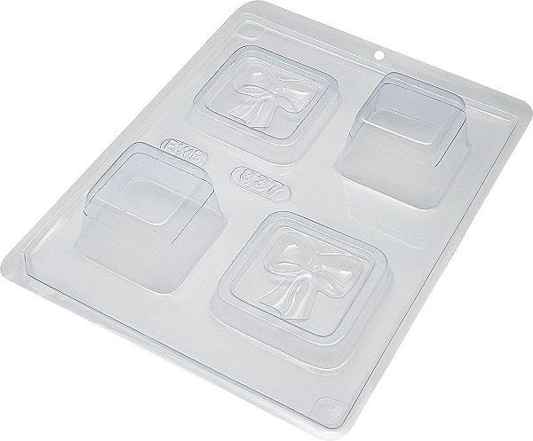 Forma de Acetato com Silicone (3 Partes) Mini Caixa com Laço - BWB