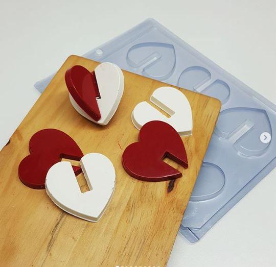 Forma Simples de Acetato Coração Montado - Bwb