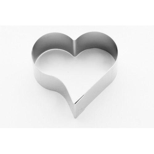 Cortador Petit Four Coração Inox