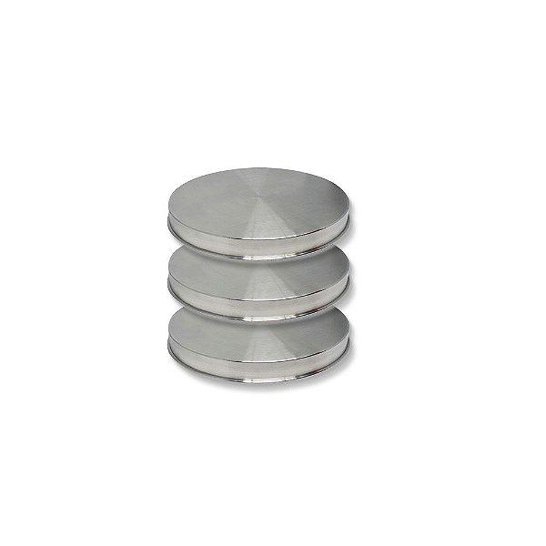 Forma Redonda Nakedcake 10x3cm Kit C/ 3 Unidades