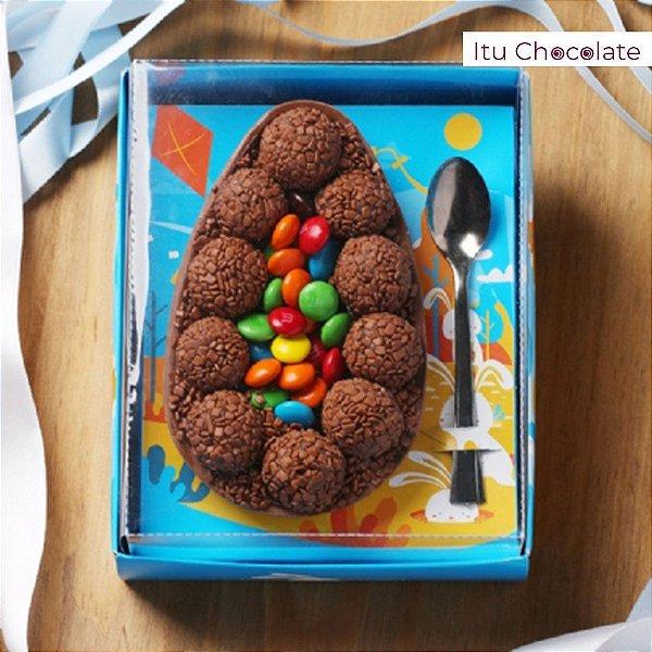 Caixa para Ovo de Páscoa de Colher 350g Cor Azul -10 UN