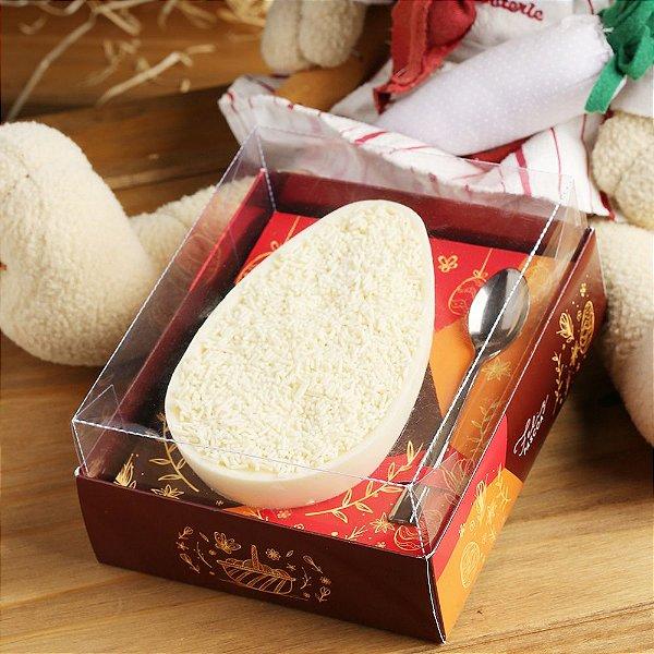 Caixa para Ovo de Páscoa de Colher 500g Cor Marron -10 UN