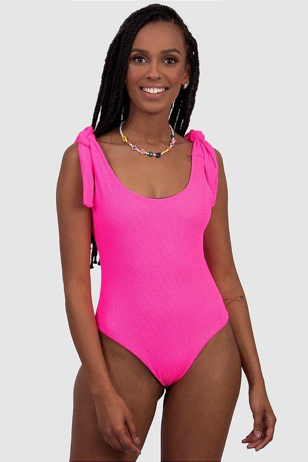 Body / Maiô Firenzi Feminino Rosa  Neon