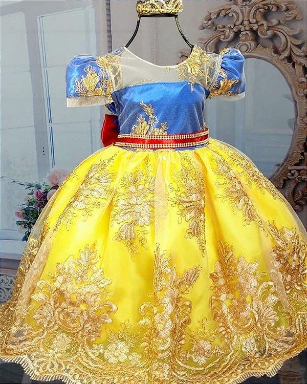 Vestido Branca de Neve Realeza