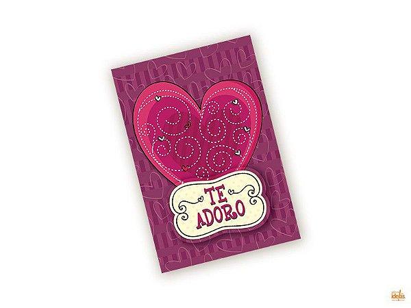 Cartão Pequeno Te Adoro