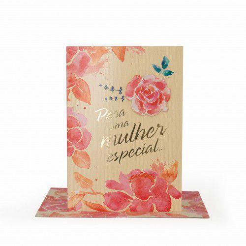 Cartão Médio Para Uma Mulher Especial