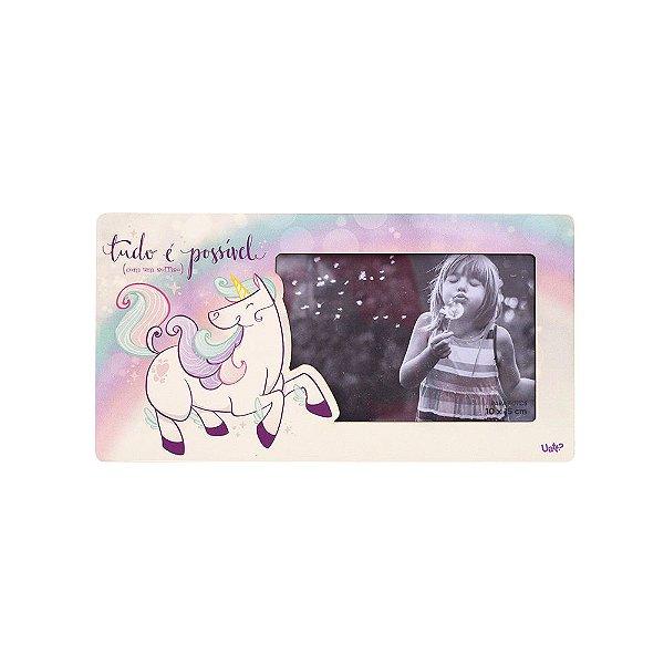 Porta retrato retangular 10x15 - unicornio