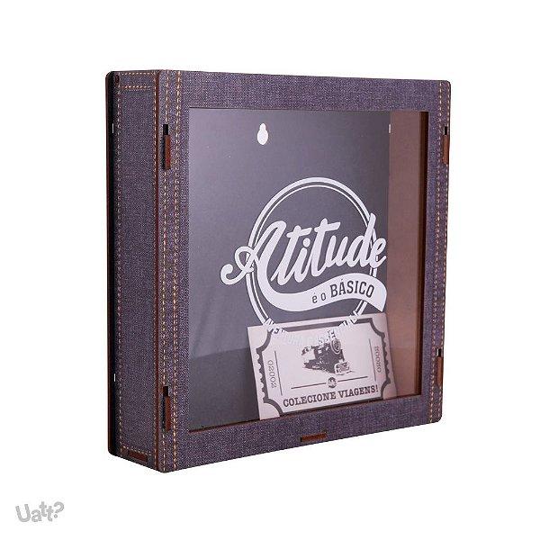 Caixa de lembrancas com adesivo - atitude e o basico