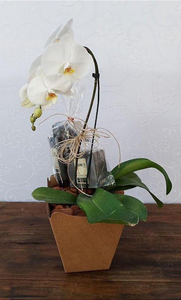 Orquídea com Sabonete e Creme de Barbear Natura
