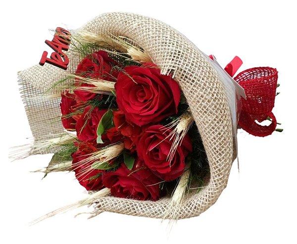 Mini Topiaria de 7 rosas