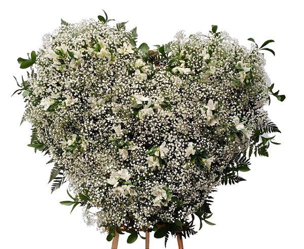 Coroa de Flores de Gipsofila Coração