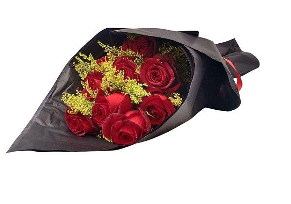 Buque De 12 Rosas Vermelhas