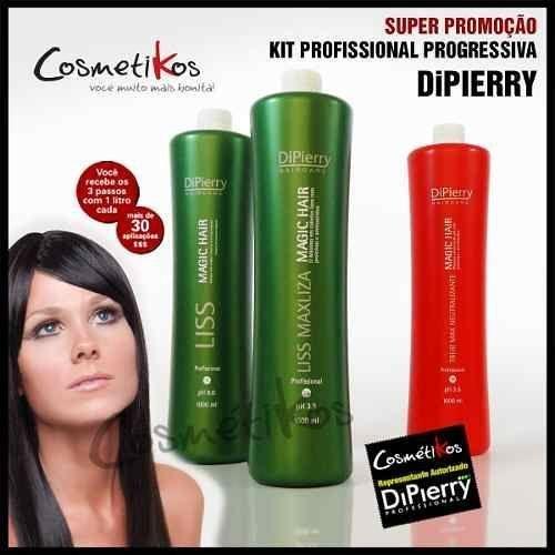 Escova Progressiva Dipierry - Magic Hair Liss System