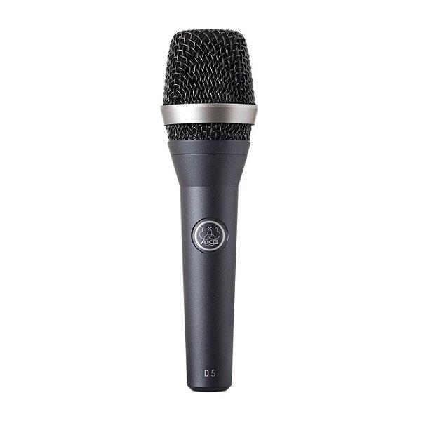 MICROFONE AKG DINÂMICO SUPERCARDIOIDE COM FIO VOCAL D5