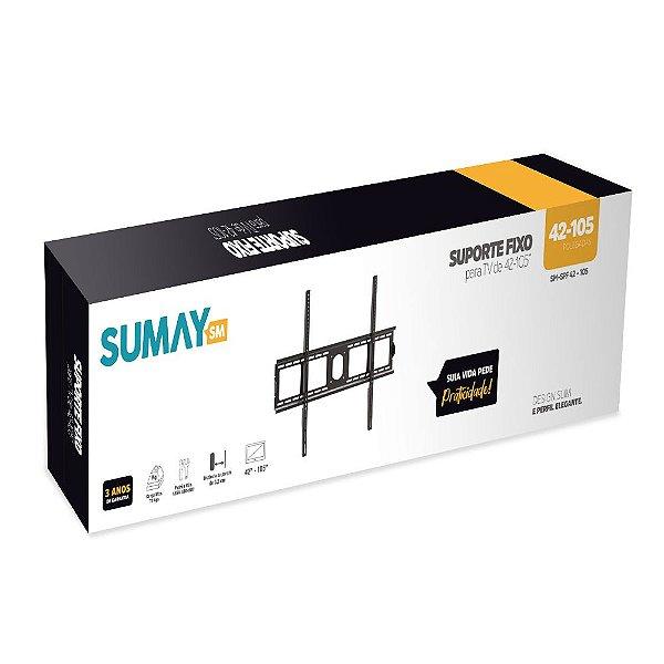SUPORTE DE PAREDE FIXO P/ TV SUMAY  SM-SPF 42-105 (5431)