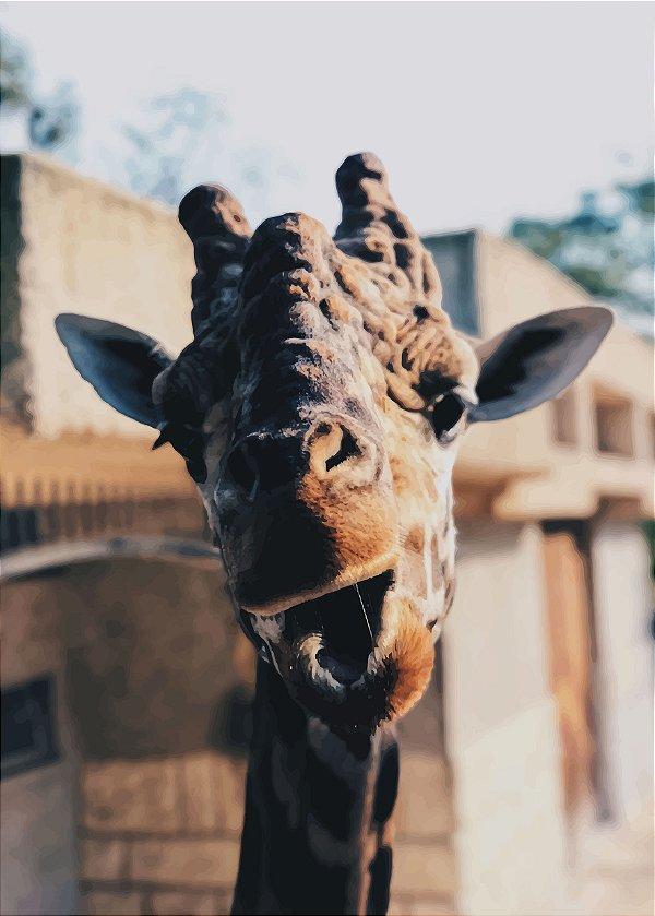 Placa Decorativa - Girafa  - 30 x 42 cm