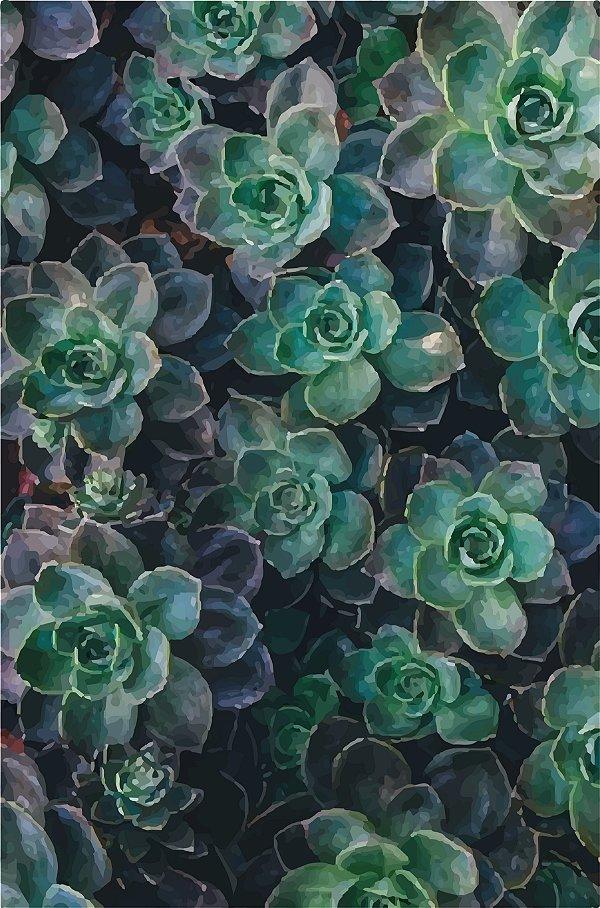 Placa Decorativa - Planta Verde  - 30X42cm
