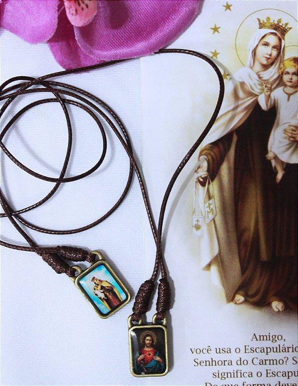 Escapulário de Inox - Nossa Senhora do Carmo