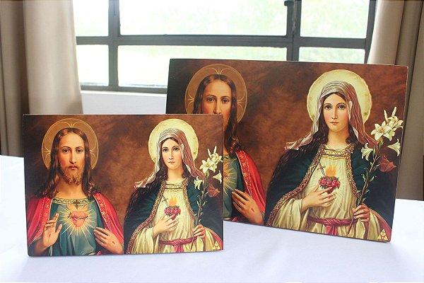 Ícones Sagrado Coração de Jesus e Imaculado Coração de Maria.