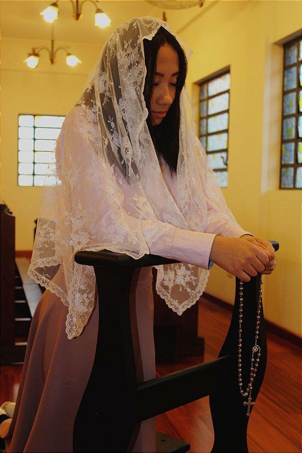 Véu para Missa - Branco