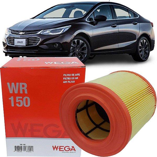 Filtro De Ar Wega Chevrolet Gm Cruze 1.4 16V Turbo Flex 2016 2017 2018 2019 2020 2021