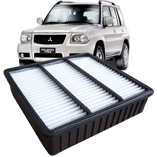 Filtro De Ar Do Motor Fram Mitsubishi Pajero Tr4 1.8 E 2.0 Gasolina Flex 2003 2004 2005 2006 2007 2008 2009 2010 2011 2012 2013 2014