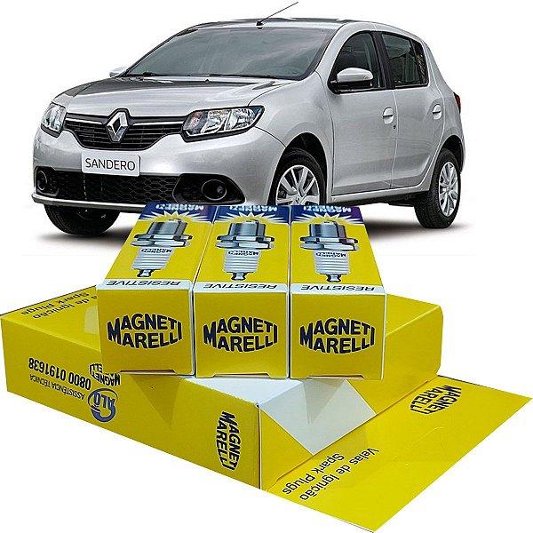 Jogo De Vela Ignição Magneti Marelli Renault Sandero 1.0 12v 3 Cilindros Vibe Life Zen 2016 2017 2018 2019 2020 2021
