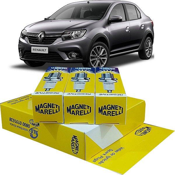 Jogo De Vela Ignição Magneti Marelli Renault Logan 1.0 12v 3 Cilindros Life Zen 2016 2017 2018 2019 2020 2021