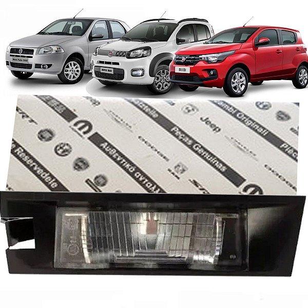 Lanterna Placa Original Fiat 51766508 Palio 2008 Até 2012 Novo Uno Após 2012 E Mobi Após 2017