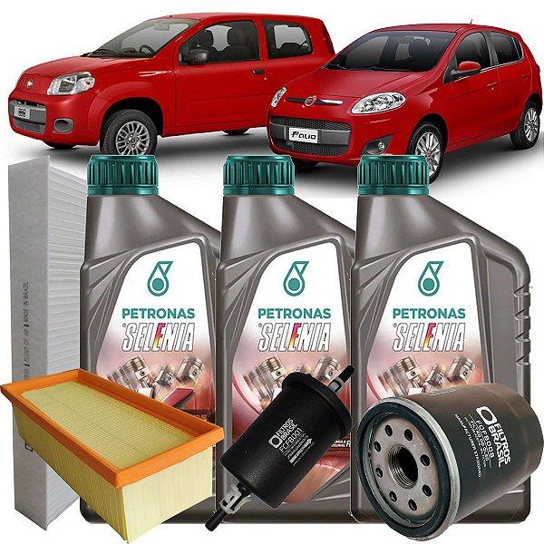 Kit Revisao Troca De Oleo Selenia 5W30 Fiat Palio Uno 1.0 8v Fire Evo Attractive Way Vivace 2012 2013 2014 2015