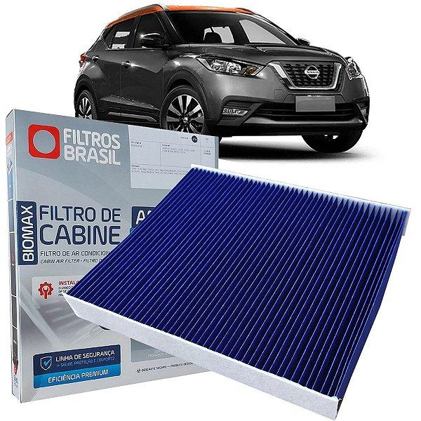 Filtro De Ar Condicionado Cabine Antiviral Filtros Brasil Nissan Kicks 1.6 Pcd 2016 2017 2018 2019 2020 2021
