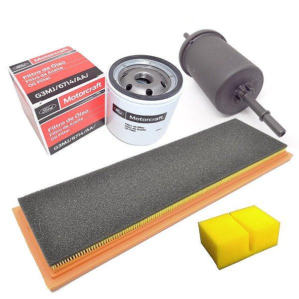 Kit filtros ar óleo combustível e separador - Ecosport Fiesta e Ka Zetec Rocam