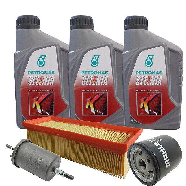 Kit troca de óleo Selenia K 5w30 sintético e filtros - Fiat Novo Uno 1.0 e Novo Palio 1.0