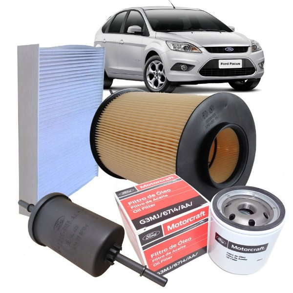 Kit filtros de ar, óleo e combustível - Ford 1.6 16V e 2.0 16V 2009 2010 2011 2012 2013