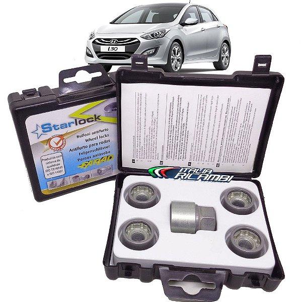 Kit Parafuso Antifurto De Rodas Farad Starlock - Hyundai I30 1.8 16V 2014 2015 2016