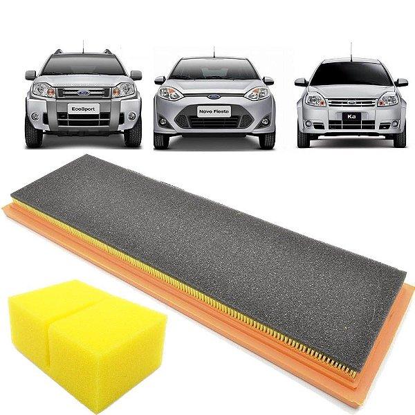 Kit filtro de ar e filtro separador - Ford Ecosport Fiesta Ka 1.0 8V e 1.6 8V Zetec Rocam