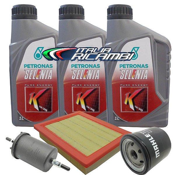 Kit troca de óleo Selenia K Pure Energy 5w30 e filtros ar, óleo, combustível - Fiat Idea Palio Siena 1.0 e 1.4 Fire