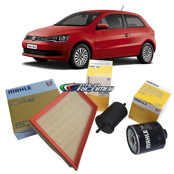 Kit filtros de ar, óleo e combustível - VW Gol G5 G6, Polo, Voyage e Saveiro 1.6 Flex