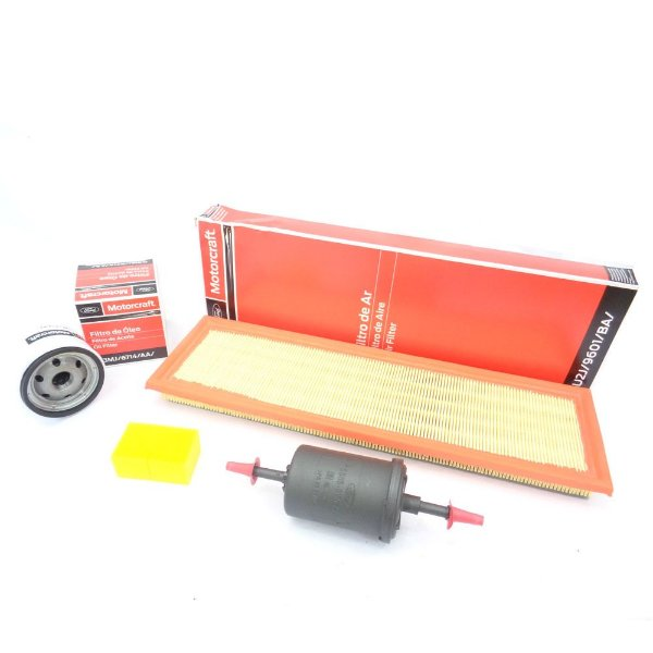 Kit filtros ar, óleo, combustível e separador Motorcraft - Ford Ecosport Fiesta e Ka 1.0 8V e 1.6 8V Zetec Rocam
