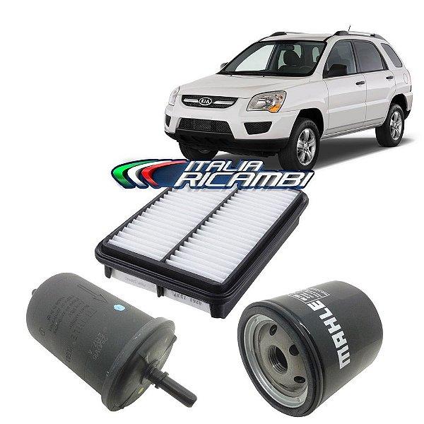 Kit filtros de ar, óleo e combustível - Kia Sportage 2.0 16V de 2008 até 2010