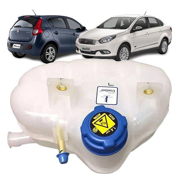 Reservatório expansão água radiador Fiat Grand Siena e Paliop 1.6 16V Etorq