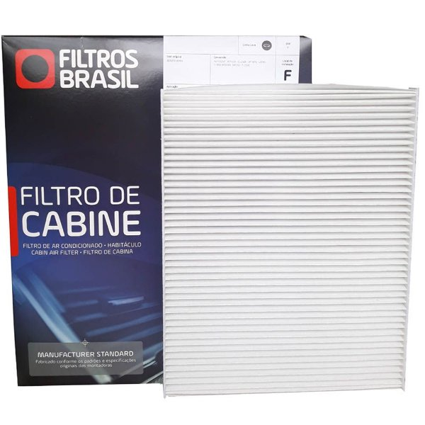 Filtro De Cabine Filtros Brasil FB512 - Fiat Argo Cronos Novo Uno Palio Grand Siena 500 Strada Fiorino Mobi