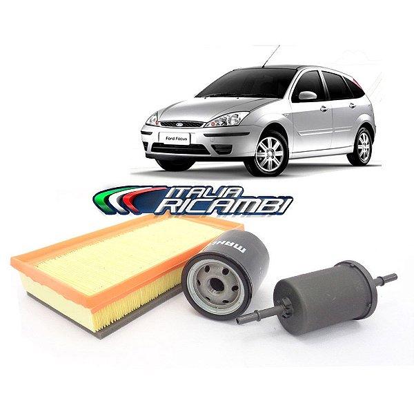 Kit filtros ar, óleo e combustível - Ford Focus 1.6 8V Zetec Rocam Flex de 2007 até 2009