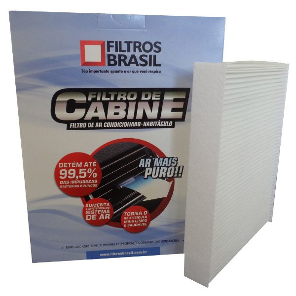Filtro De Cabine Filtros Brasil FB602 - Citroen C3 1.4 e 1.6 E Peugeot 307 1.6 e 2.0 Até 2010
