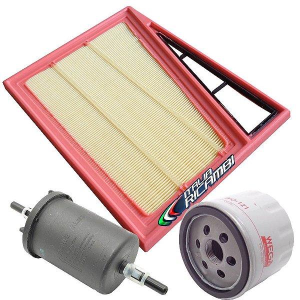 Kit filtros de ar óleo e combustível - Fiat Argo Cronos Mobi Uno 1.0 3 cilindros 1.3 Firefly